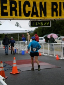 Finish line of the American River 50, April 2007